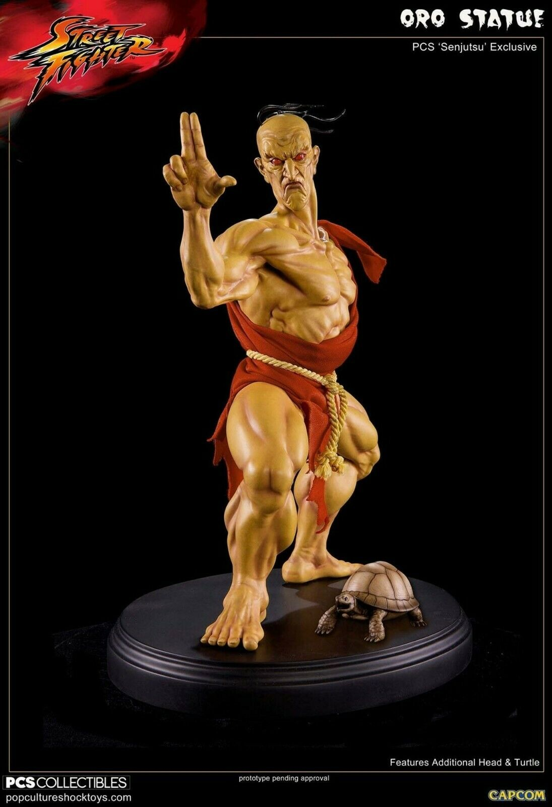 Pop Culture choque oro Senjutsu ex 1 4 estatua, Street Fighter, Capcom, Sideshow