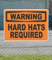 Warning Hard Hats Required - Osha Safety Sign 10 X 14
