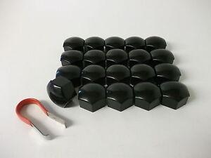 Wheel-Nut-Covers-17mm-Black-Fit-Audi-A1-A2-A3-A4-A5-A6-A7-A8-TT-PE1098