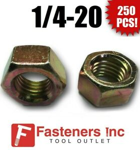 200 9//16-12 HEX NUT GRADE 8 YELLOW ZINC 200 PIECES