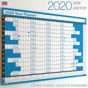 2020-Year-Planner-Wall-Chart-Calendar-Holidays-Staff-Office-WIDEST-RANGE-ON-EBAY