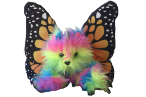 Rainbow Butterfly Unicorn Kitten Stuffed Toy Stuffed Animal Plush