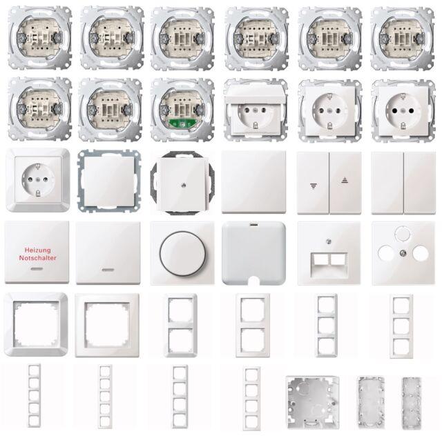 Merten sistema m polar blanco brillante M-Smart interruptor, los enchufes, marco, selección