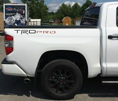 Fits TRD Pro Toyota Tundra 2014-2019 Red//Black Letters Inserts Decals One Set