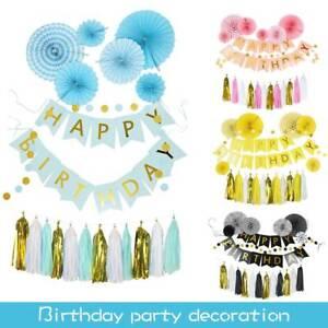 bon-anniversaire-banderole-banniere-ballon-tirer-Couronne-mariage-Kit-decor-fete