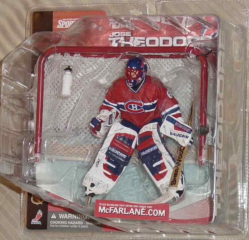 McFARLANE SERIES 1 JOSE THEODORE MONTREAL CANADIENS NO LOGO on BOTTLE