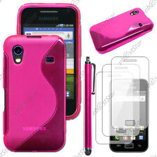 Housse Etui Coque Silicone Rose Samsung Galaxy Ace S5830 + Stylet + 3 Films
