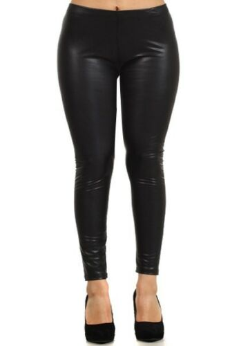 Winter Faux Leather Pleather PU Fleece leggings PLUS 1X 2X 3X Great