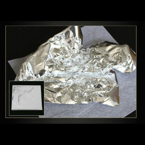 Gilding 14*14cm Gold Craft Foil Blätter 100 Silver Diy Paper Leaf Copper Sheets