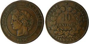 10 CENTIMES CERES 1896 A PARIS TORCHE - RARE Nv37GJLz-07133847-672096917