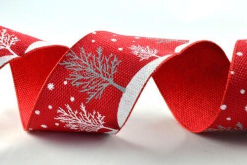 Wired ruban flocon de neige /& arbre de 40 mm de large haute qualité idéal pour noël ruban