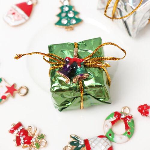 19Stück Metal Alloy Mixed Weihnachten Charms Set Schmuck Anhänger DIY Craft