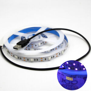 Image Is Loading Ultraviolet Uv 5v Black Light Led Strip Usb
