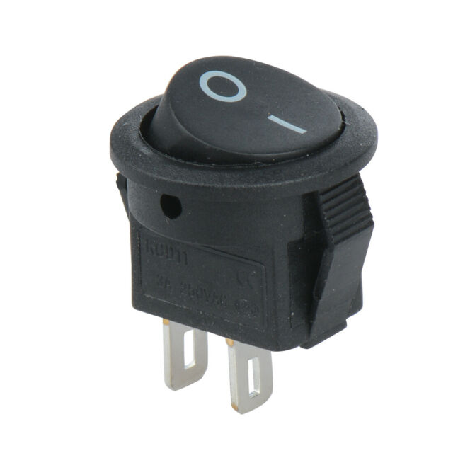 2A 250VAC On-Off Round Rocker Button Switches for Car Boat Dashboard UK Seller