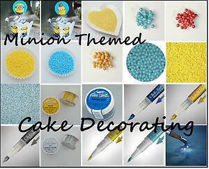 Cake Decorating Sugar Balls : Minion Themed Cake Decorating Sugar Ball Sprinkles ...