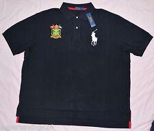 New 3XB 3XL BIG 3X POLO RALPH LAUREN Mens Big Pony rugby shirt top black NWT