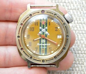 Uhr UDSSR VOSTOK KOMANDIRSKIE mechanisch Sowjet Russische Armbanduhr Wostok selten