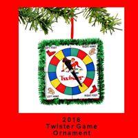 Twister Board Game Ornament Dept56 2.75 Square 2016 Hasbro