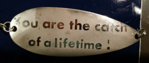 Personalized etched Metal Fishing Lures  Bait Spoon Tackle,father/'s day