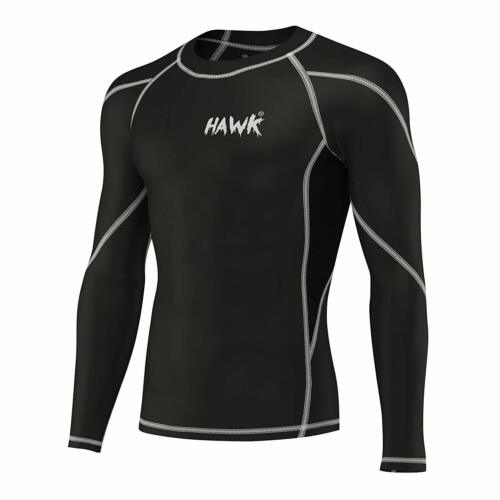Mens Sports Workout Compression Shirts Gym No Gi Rashguard MMA BJJ Rash Guard