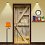 3D-Retro-Wood-Door-Wall-Wrap-Mural-Photo-Wall-Sticker-Decal-Wall-Home-Decoration thumbnail 3