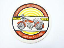 MZ Werk Zschopau DDR Motorrad Souvenir Bierdeckel DKW E 200 Baujahr 1928