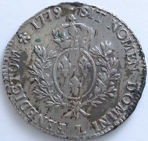 FRANCE-LOUIS-XVI-ECU-AUX-BRANCHES-D-039-OLIVIER-1779-L