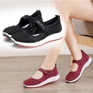 Womens-Mesh-Comfort-Mary-Jane-Running-Walking-Sports-Walk-Sandals-Shoes-Trainers