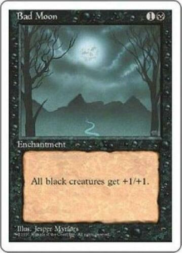 Bad Moon PL MTG Fourth Edition 4th Magic 2B3