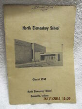 North Elementary School Class of 1959 Yearbook Evansville IN Signed, W/Photos