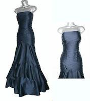 Monsoon Navy Glamour Luxury Strapless Mermaid Bridesmaid Maxi Dress Uk 12 £249