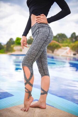 Women Fitness Leggings High Waist YOGA Pants Gym Running Sports Stretch Trousers