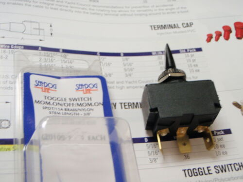 SEADOG 4201091 SPDT THE BOATINGMALL TOGGLE SWITCH MOMENTARY ON//OFF//MOM ON