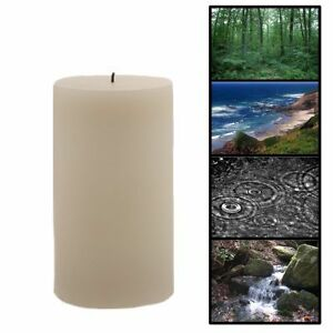Flameless-Flickering-Real-Wax-Candle-4-Nature-Sounds-6-Pillar-Vanilla-Scent