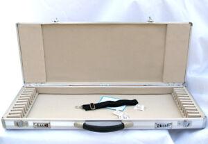 New Brown Wooden 12-Bow Case Fit 4//4 violin//viola//cello bows Pro