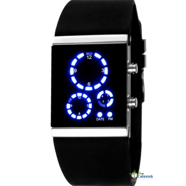NEW Classical Colorful Mirror Face LED Silicone Sport Watch 12 Color Hot!Sale CH