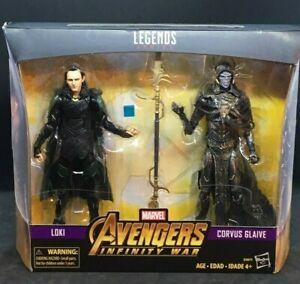 """Marvel Legends 6/"""" Avengers Infinity War Loki /& Corvus Glaive 2-Pack"""