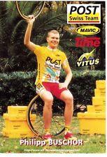 CYCLISME carte  cycliste PHILIPP BUSCHOR équipe POST SWISS TEAM