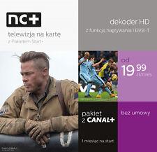 NC+ HDTV Box Telewizja na karte MIX + mit CANAL+ Paket GRATIS // Film Sport Buli