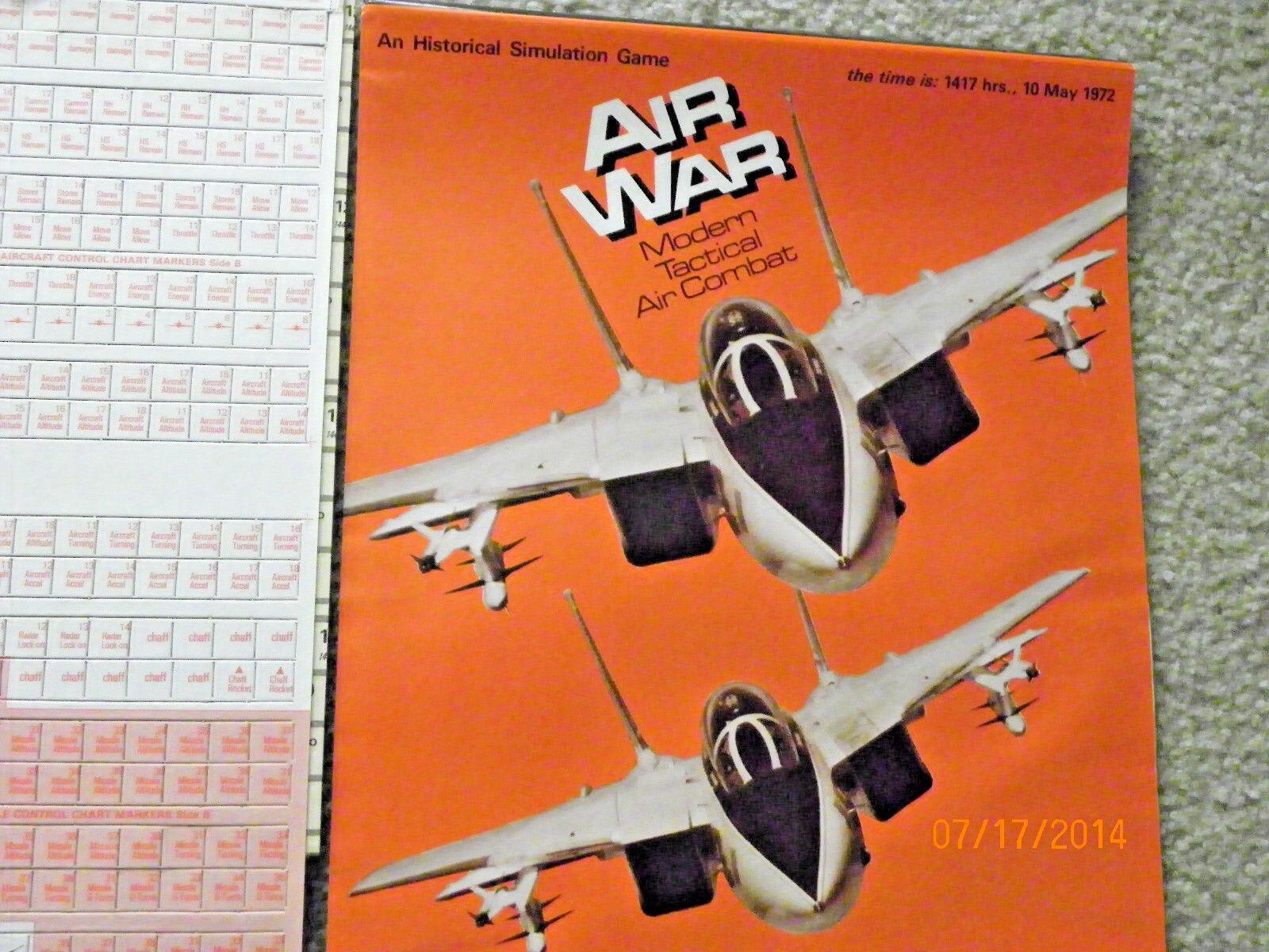 Air War - Modern Tactical Air Combat (SPI, 1977) Near mint UNPUNCHED With Bonus