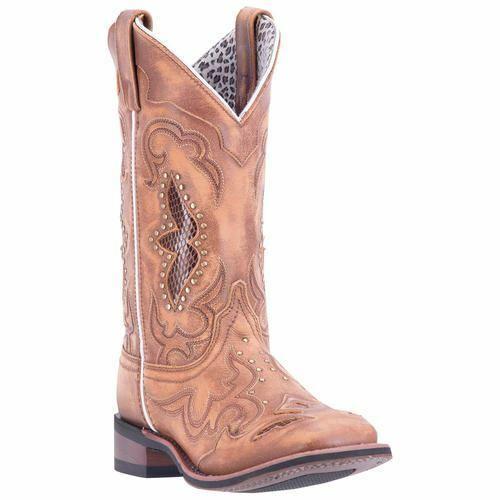 negozio outlet Laredo Donna Donna Donna Spellbound Cowboy Del West Stivali in pelle Marrone 5661  moda classica