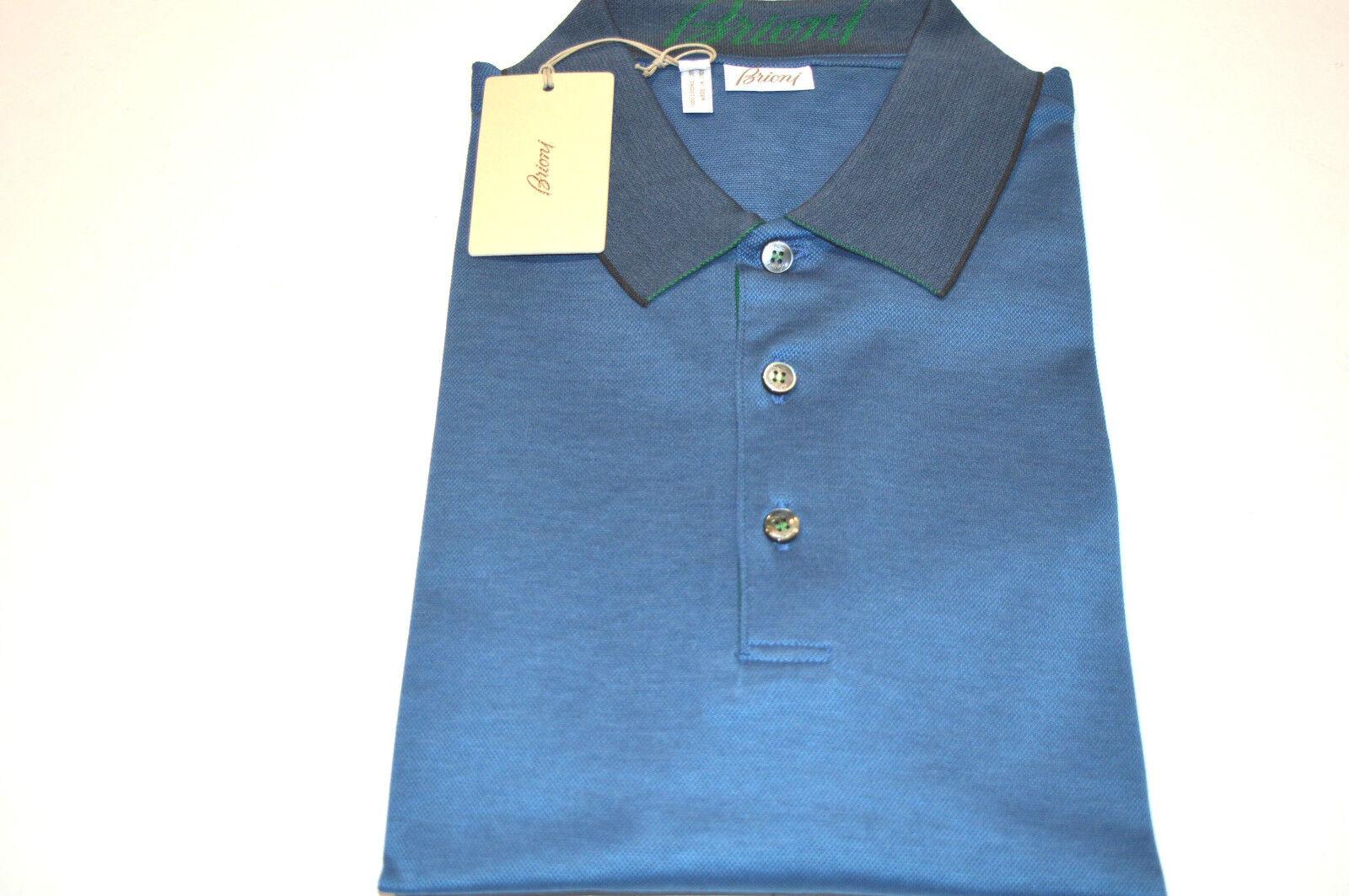 NEW  BRIONI Polo  Short Sleeve baumwolle Größe L Us Eu 52 (Tubic1))