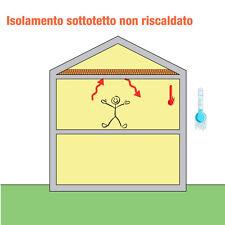 Rotolo Lana Roccia/Vetro 15,60  spess. 50 mm. isolamento solaio soffitta tetto