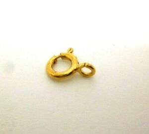 9ct yellow gold heavy duty 8 mm bolt ring open jewellery fastener x 3