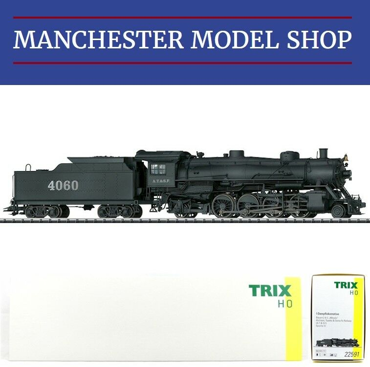 Trix 22591 HO 1 87 Licht Mikado A.T.&S.F. steam locomotive  DCC SOUND  NEW BOXED