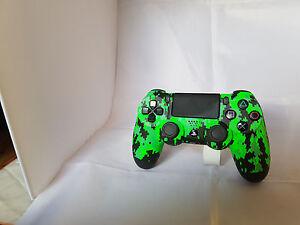 PS4-Scuf-Controller-Digi-Camo-NEON-GRUN-NEU-amp-vom-HANDLER
