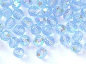 8mm 20 light amethyst Czech glass fire polished beads 2002