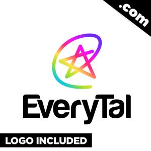 EveryTal-com-Cool-brandable-domain-for-sale-Godaddy-PREMIUM-LOGO-5-6-Letter