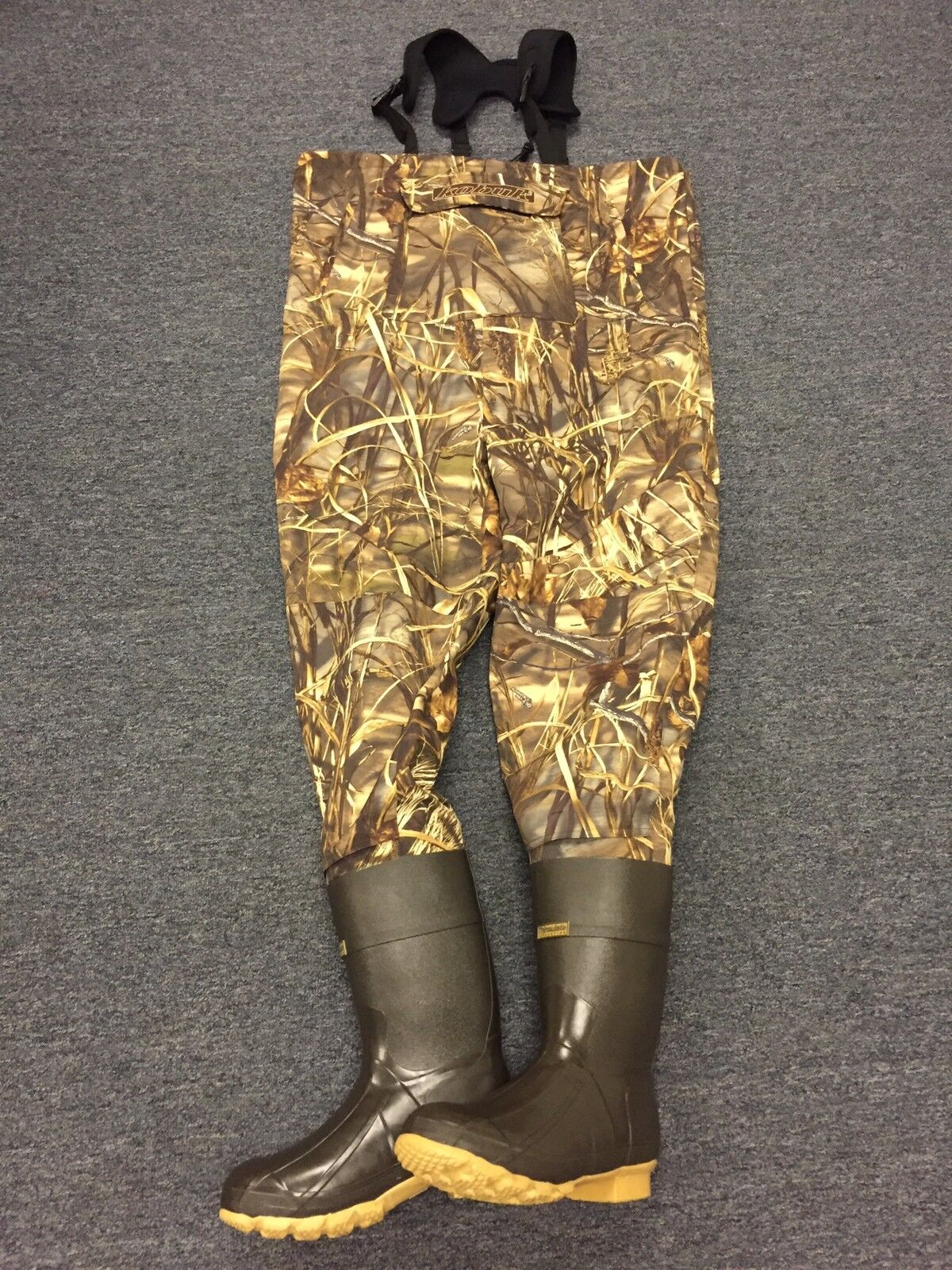 NEW Kobuk Men's Max-4 Camo Premium Breathable Hunting Wader Lug Boots Sz 12 KING