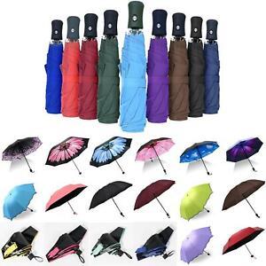 Damen-Herren-Regenschirm-Taschenschirm-Sonnenhimmel-Faltbar-Leicht-Regen-Schirme